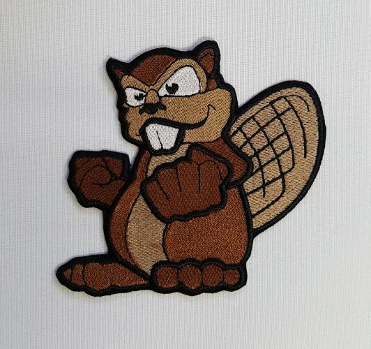 Beaver Mascot Sports Embroidered Patch Free USA Shipping