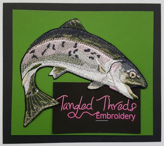 "Rainbow Trout, Fish, Embroidered Path 4.8""x4.8"" Free USA Shipping"