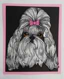 "Shih Tzu  Dog Embroidered Patch Approx Size 6.5""x8"""