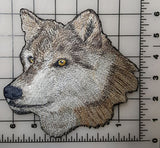"Wolf Head, Wolves, Embroidered Patch 6.4""x 6.5"""