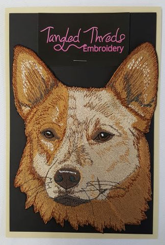 "Australian Cattle Dog, Heeler Embroidered Patch 5.7"" x 7.6"""