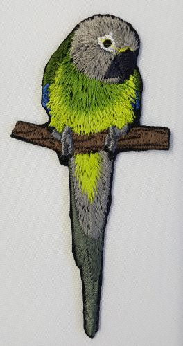 "Dusky Conure, Dusky Headed Parakeet Weddells Conure Parrot, Bird  Embroidered Patch 1.8"" x 3.9"""