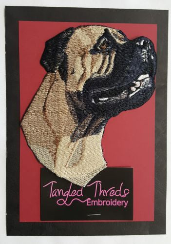 Mastiff Dog Embroidered Patch