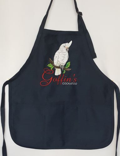 Goffin's Cockatoo, Parrot, Pet, Bird, Chef, BBQ, Cook, Craft, Gardening, Work Embroidered Apron