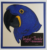 Macaw, Hyacinth, Parrot Embroidered Patches