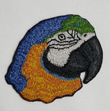 Macaw, Blue & Gold, Parrot Embroidered Patch FREE USA SHIPPING