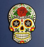 "Sugar Skull Embroiderd Patch 2.5"" x 3.5"""