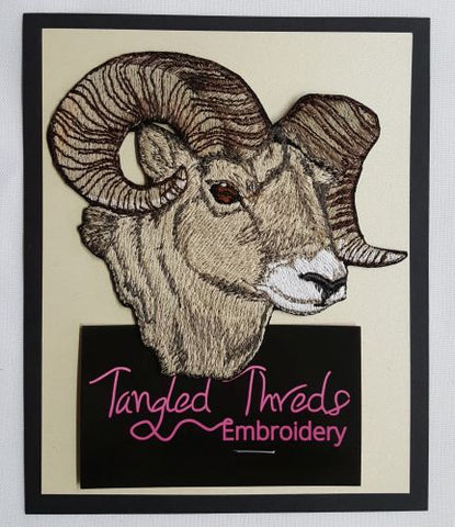 "Ram, Sheep Embroidered Patch 4.6"" x 4"""