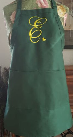 Monogrammed Embroidered Apron - Touch of Love Font