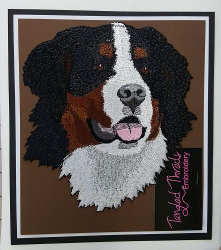 Bernese Mountain Dog Embroidered Patch