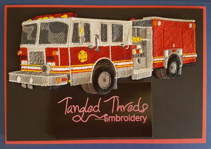 Fire Truck, Fire Engine, Firefighter Embroidered Patch