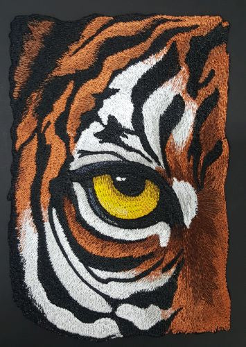 Tiger Eye, Wild Animal, Exotic Cat Embroidered Patch