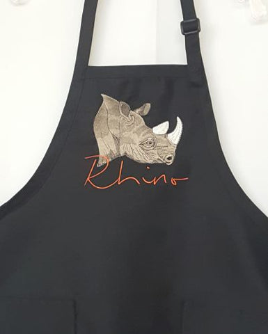 Rhino, Rhinoceros, BBQ, Chef, Work, Cook Apron