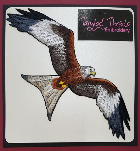 Red Kite Flying, Raptors, Buzzards, Embroidered Patch