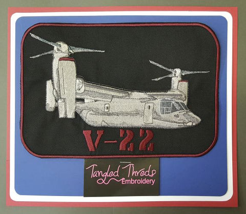 "V-22 Osprey, Military Embroidered Patch Approx Size 6.5"" x 9.5"" Free USA Shipping"