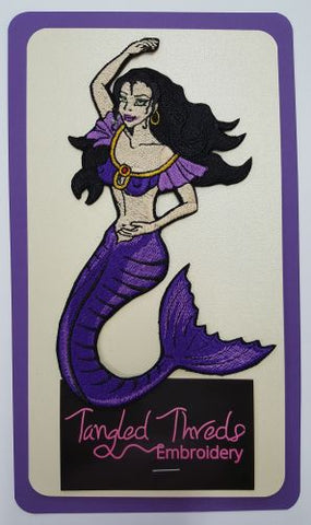 Mermaid Embroidered Patch 4.2 x 6.8