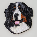 Bernese Mountain Dog Embroidered Patch (2.9 Inches Tall)