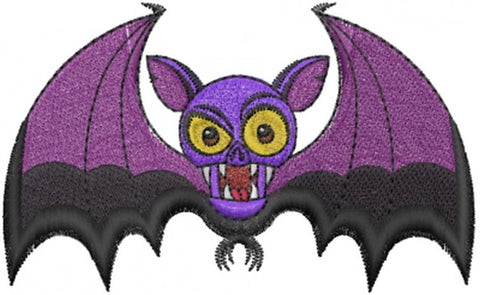 "Vampire Bat , Halloween Embroidered Patch 3.5"" x 2.1"""