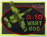 "A-10 Warthog Green Embroidered Patch 11.5"" x 8.5"""