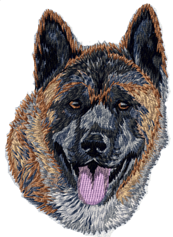 Akita Inu Dog Head Embroidered Patch 3""
