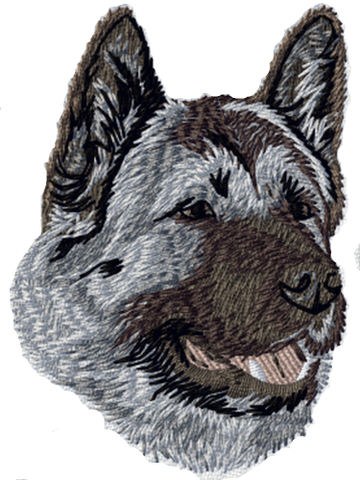 Akita Dog Embroidered Patch 3""