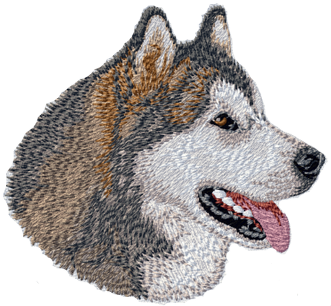 Alaskan Malamute Dog Embroidered Patch 3""