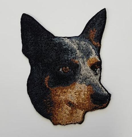 "Australian Cattle Dog Blue Heeler Embroidered Patch 3"" x 2.5"""