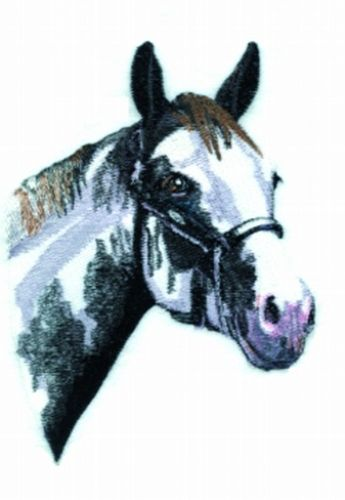 "Paint (Black & White) Horse Embroidered Patch Approx Size 5.7"" x 7.4"""