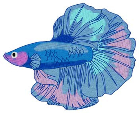 "Betta Beta Fish 978 Embroidered Patch 3.9"" x 3.1"" Free USA Shipping"