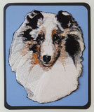 Sheltie Blue Merle Embroidered Patch