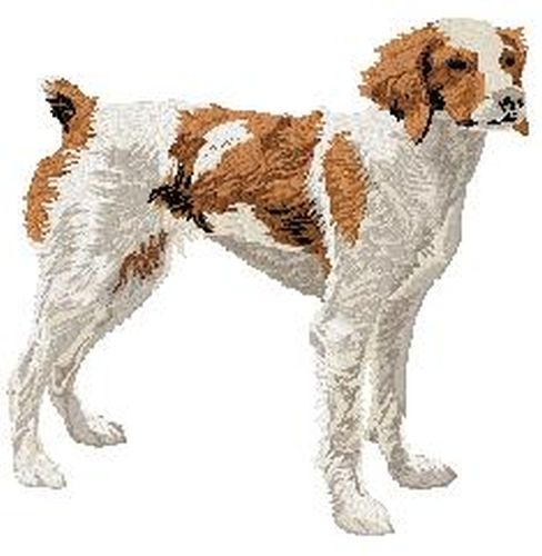"Brittany Dog Embroidered Patch 3.3"" Tall"