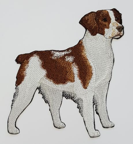 Brittany Dog Embroidered Patch
