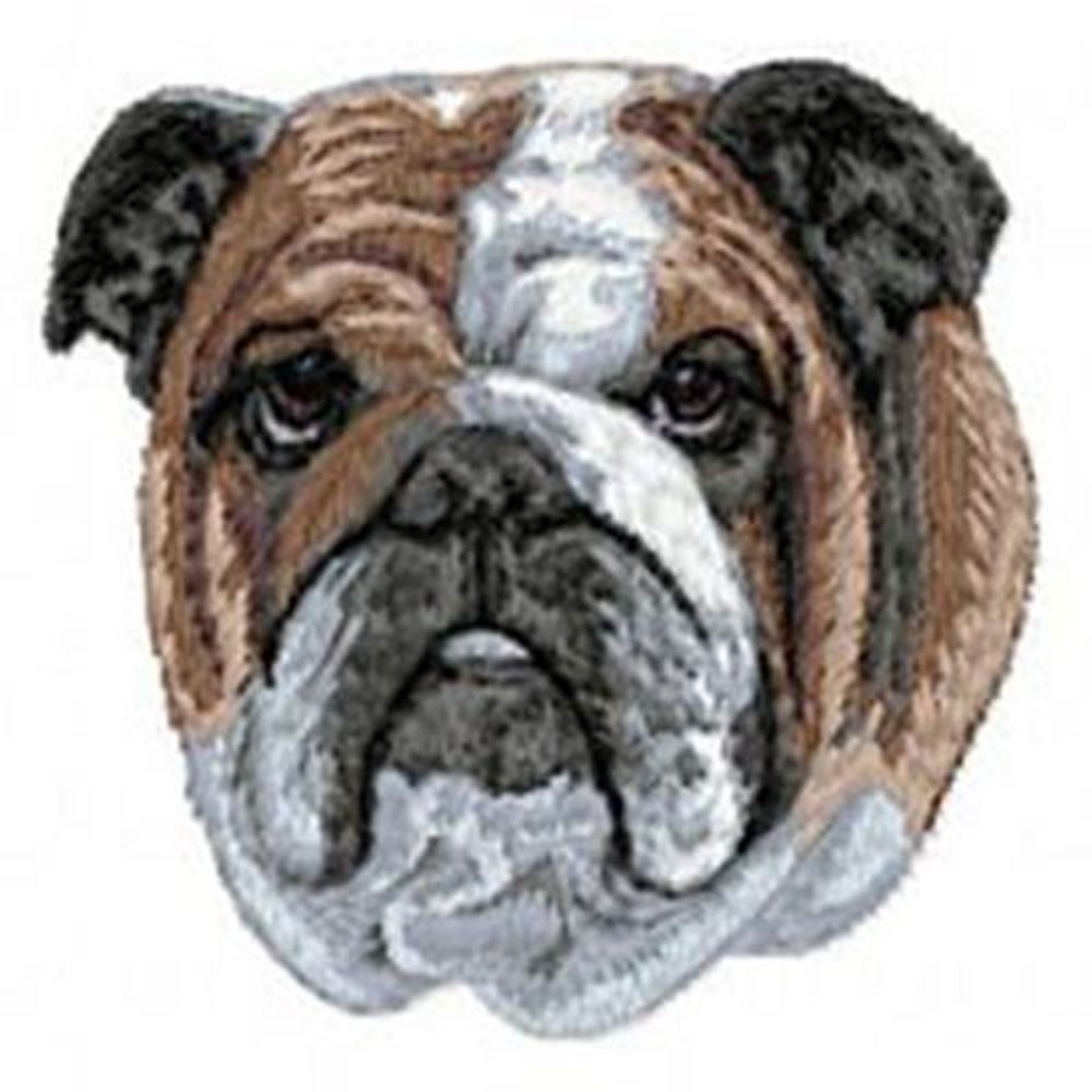 "Bulldog, English (63) Embroiderd Patch 3"" x 3 """