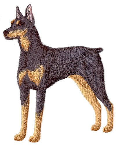 Doberman Pinscher Dog Full Body Embroidered Patches, 3 sizes available