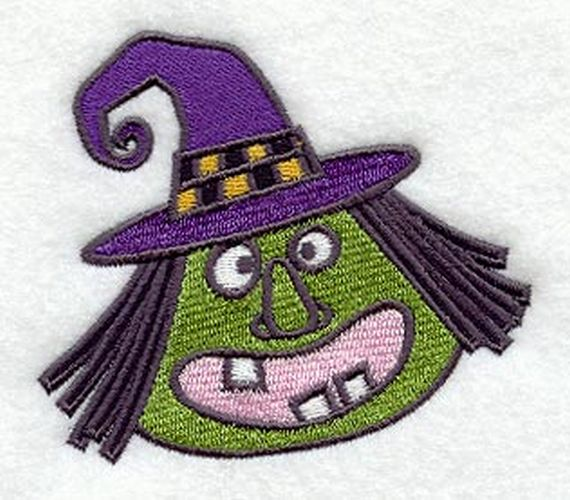 "Witch, Halloween Embroidered Patch 3.8"" x 3.3"""