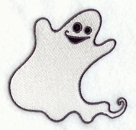 "Ghost, Halloween Embroidered Patch 3.8"" x 3.7"
