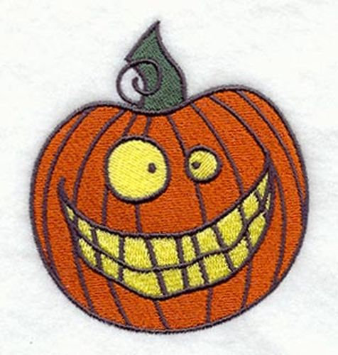 "Pumpkin, Jack-o-Lantern, Halloween Embroidered Patch 3.4"" x 3.8"""