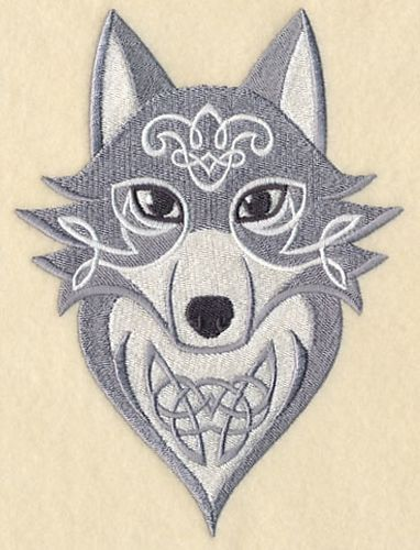 Celtic Wolf, Wolves Embroidered Patch