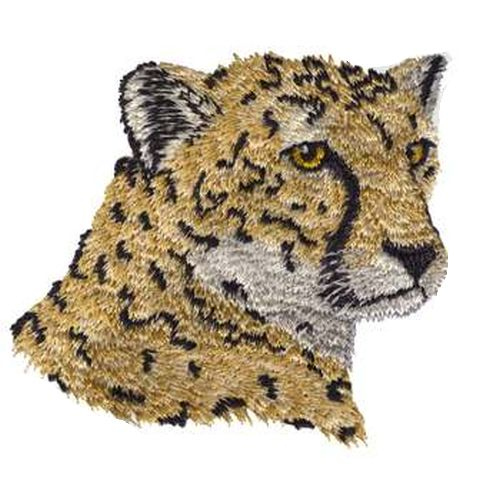 Cheetah, Wild Cat, Exotic Cat Embroidered Patch, FREE USA SHIPPING