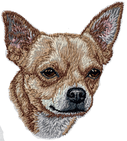 "Chihuahua Dog Tan (428) Embroidered Patch Approx 3"" Free USA Shipping"
