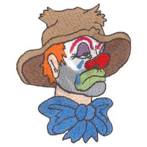 "Clown Crying (219) Embroidered Patch 2.4"" x 3"", Free USA Shipping"
