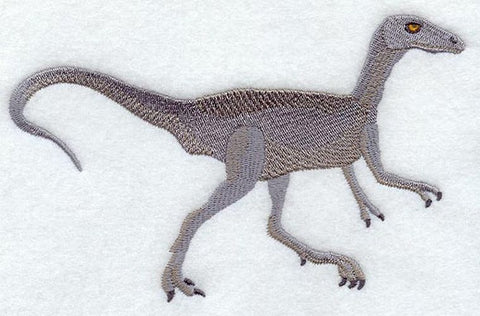 Dinosaur Compsognathus Embroidered Patch