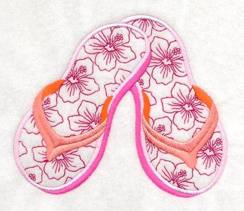 Flip Flops, Sandals, Embroidered Patch