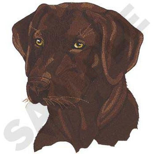 "Labrador Retriever Dog, (Chocolate) Embroidered Patch 7.3"" x 8.5"""