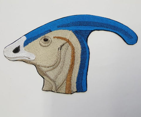 Parasaurolophus Head Dinosuar Embroidered Patch