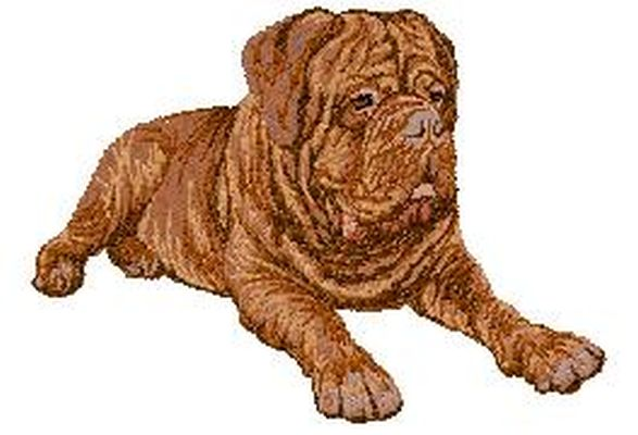 "Dogue De Bordeaux Embroidered Patch 2.6"" FREE USA SHIPPING"