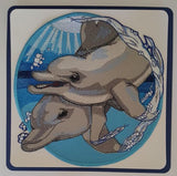 "Dolphins Embroidered Patch 8"" x 8"""