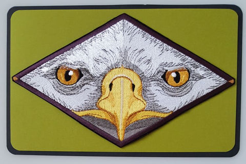 "Eagle Eyes Birds of Prey Embroidered Patch 8.5"" x 5.1"""