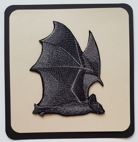 Bat Flying Embroidered Patch