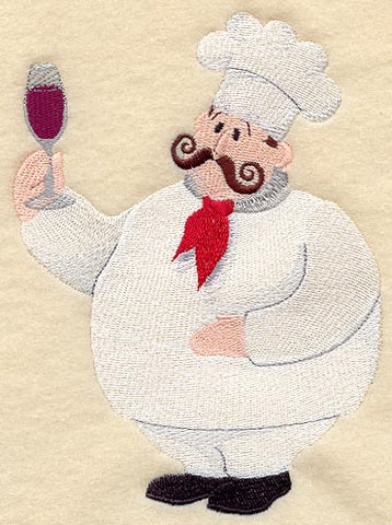 Wine Chef Embroidered Patch
